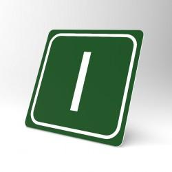 Plaque signalétique carrée : Lettre I