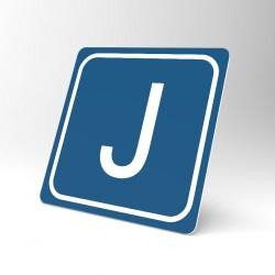 Plaque signalétique carrée : Lettre J
