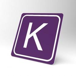 Plaque signalétique carrée : Lettre K