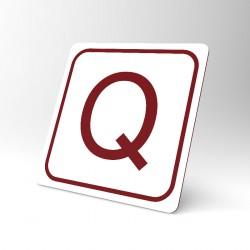 Plaque signalétique carrée : Lettre Q