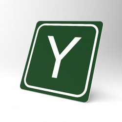 Plaque signalétique carrée : Lettre Y