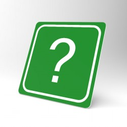 Plaque signalétique carrée : Le point d'interrogation