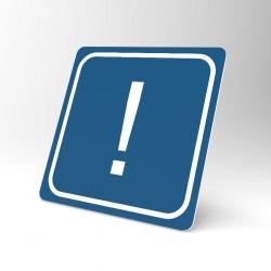 Plaque signalétique carrée : Le point d'exclamation