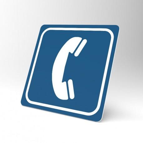 Plaque signalétique carrée : Téléphone 3