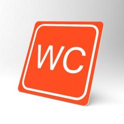 Plaque signalétique carrée : Toilettes WC