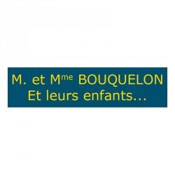 Plaque de boite aux lettres - Bleu & Jaune