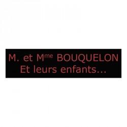 Plaque de boite aux lettres - Noir & Rouge mat