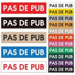 """Plaque """"Pas de pub"""" noire"""