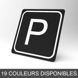 Plaque signalétique carrée : Lettre P