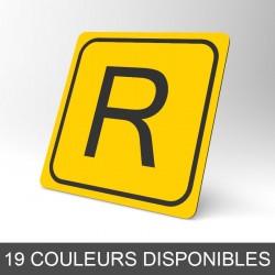 Plaque signalétique carrée : Lettre R