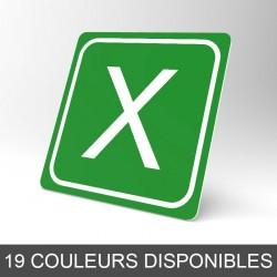 Plaque signalétique carrée : Lettre X