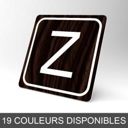 Plaque signalétique carrée : Lettre Z