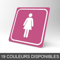 Plaque signalétique carrée : Toilettes femmes