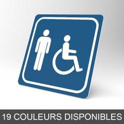 Plaque signalétique carrée : Toilettes homme handicapé