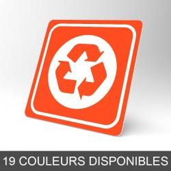 Plaque signalétique carrée : Recyclage 2