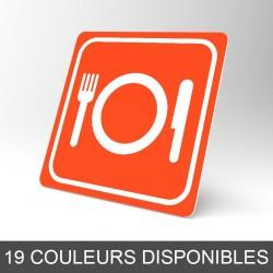 Plaque signalétique carrée : Restaurant