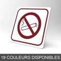 Plaque signalétique carrée : Interdiction de fumer 2