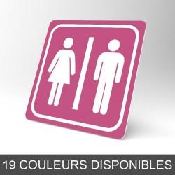 Plaque signalétique carrée : Toilettes femmes / hommes