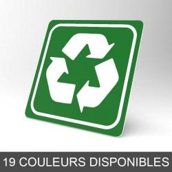 Plaque signalétique carrée : Recyclage 3