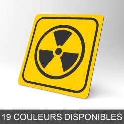 Plaque signalétique carrée : Danger radioactif