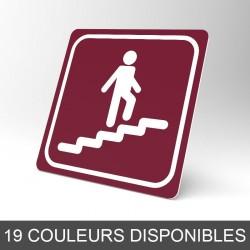 Plaque signalétique carrée : Escalier montant