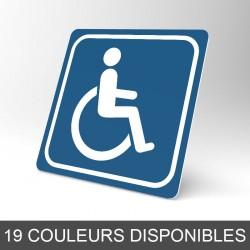 Plaque signalétique carrée : Handicapé