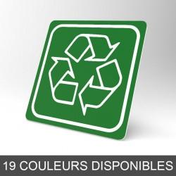 Plaque signalétique carrée : Recyclage 4