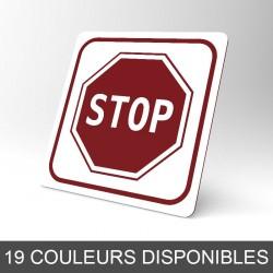 Plaque signalétique carrée : Stop