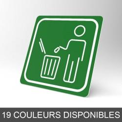 Plaque signalétique carrée : La poubelle 3