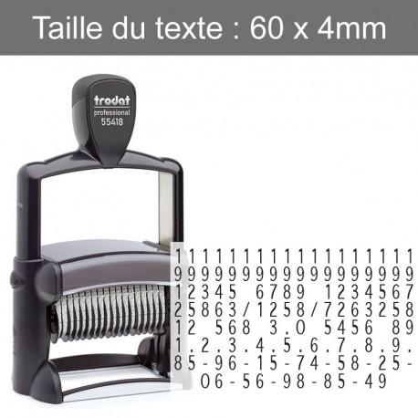 Tampon numéroteur Trodat 55418 - Spécial Pacs