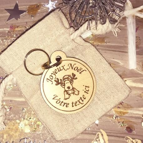 Porte-clés personnalisé Joyeux Noël