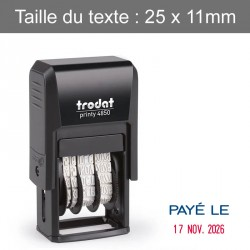 """Dateur Trodat 4850L2 - """"Payé le"""""""