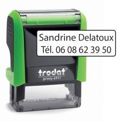 Tampon textile personnalisable : Avec téléphone